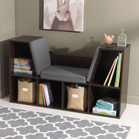 KidKraft Bookcase with Reading Nook - Espresso - 14231