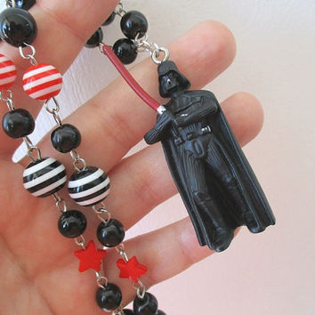 Star Wars Necklace - DARTH VADER -Beaded necklace - Geek Gear