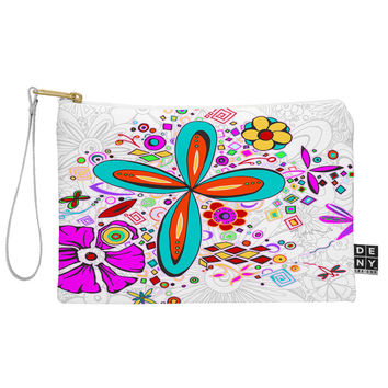 Madart Inc. Floral Dragonfly Design Pouch