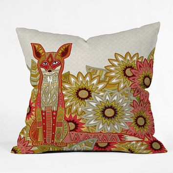 Sharon Turner Garden Fox Throw Pillow