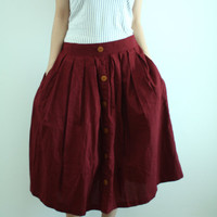 60's Style Full Skirt in Red by LadyTA on Etsy
