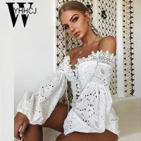 WYHHCJ 2018 sexy backless women t shirt lantern long sleeve crop top summer tshirt bodycon patchwork hollow out lace up t-shirt