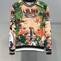 D&G Dolce&Gabbana Fashion Women's Men's  Casual Long Sleeve Sweater Pullover Sweatshirt