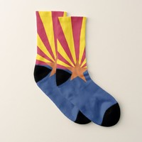 All Over Print Socks with Flag of Arizona State