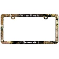 Browning Mossy Oak Camo License Plate Frame