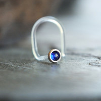 2mm Cobalt Blue Nose Stud