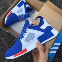 """Adidas"" NMD XR1 Duck Camo Women Men Running Sport Casual Shoes Sneakers Camouflage blue white soles"