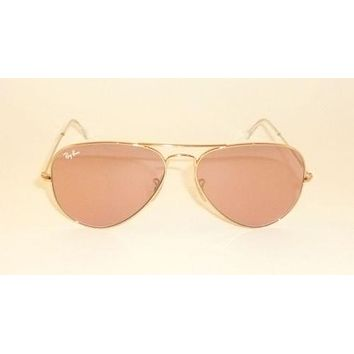 Cheap NEW Ray Ban Aviator RB LARGE 3025 003/3E Gold frame & PINKLens SUNGLASSES 58MM outlet