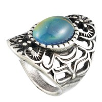 MJARTORIA 2017 Trendy Mood Ring Statement Finger Changing Color Ring Feeling Emotion Temperature Rings For Ladies Female Jewelry