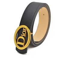 DIOR CD New Embossed Letter Ladies Small Belt