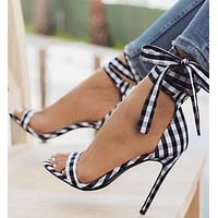 Fashion ladies sandals lattice cross straps color matching sexy fish mouth thin super high heels tide