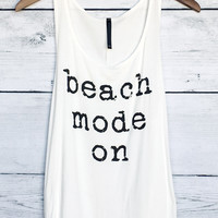 Beach Mode On Tank Top in Ivory