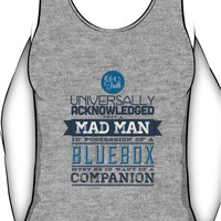 A Mad Man in Possession of a Blue Box Unisex Tank Top