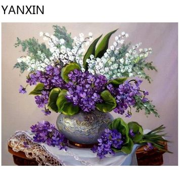 YANXIN DIY Frame Painting By Numbers Oil Paint Wall Art Pictures Decor For Home Decoration 968
