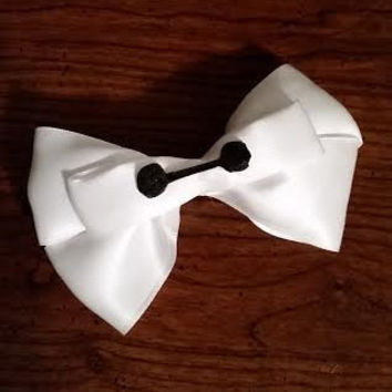 Baymax inspired Disney hair bow