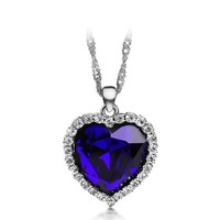 Titanic heart pendant woman necklace