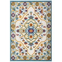 Reflect Freesia Distressed Floral Persian Medallion 8x10 Indoor and Outdoor Area Rug