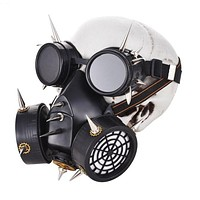Industrial Spikes Full Face Respirator Gas Mask with Goggles