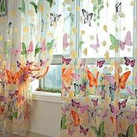 Romantic Bedroom/Living Room Butterfly Gauze Curtain