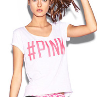 Slouchy Bling Tee - PINK - Victoria's Secret