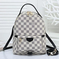 LV Louis Vuitton classic checkerboard presbyopia backpack bag