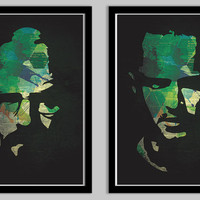 Breaking Bad Poster Set Featuring Walter White and Jesse Pinkman - 11x17
