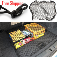 New Car Auto Mesh Cargo Net Holder Trunk Elastic Storage with 4 Hook Accessories Universal