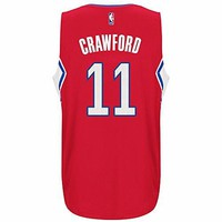 Jamal Crawford Los Angeles Clippers NBA Adidas Red Official Climacool Away Road Swingman Jersey For Men