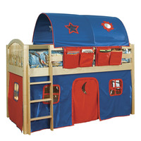 Alaterre Collection Mansfield Junior Loft Bed with Curtains