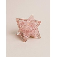Orgone Rose Quartz Merkaba - Large