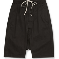 Rick Owens - Drop-Crotch Cotton Shorts | MR PORTER