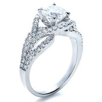 1.58ct G-SI1 Round Diamond Halo Engagement Ring 18kt White gold JEWELFORME BLUE Anniversary certified Diamond Rings