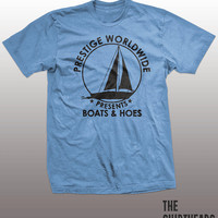 Boats and Hoes - funny step brothers t-shirt, prestige worldwide, will farrell, john c. reilly, mens, gift, humor, water, sports, boating