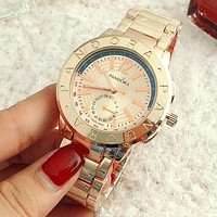 PANDORA Ladies Men Fashion Trending Quartz Watches Wrist Watch Rose gold G