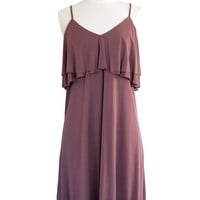 Mina Tiered Slip Dress in Desert Rose