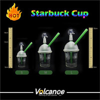 2015 Glass Hookah Water Pipes Glass Water Pipes Mothership Glass 10mm 14mm 18mm Male Starbucks Cup Oil Rigs Glass Bongs Oil Rig Recycler