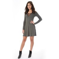Juniors' IZ Byer Strappy V-Neck Sweater Dress | null