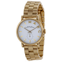 Marc by Marc Jacobs White Dial Gold-tone Ladies Watch MBM3243