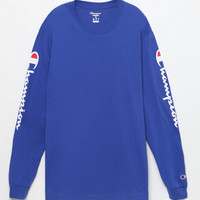 Champion Reverse Weave Blue Long Sleeve T-Shirt at PacSun.com