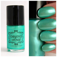 Green Pearl Nail Polish by beyondthenail on Etsy