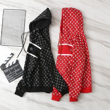 LV Louis Vuitton Hooded Fashion Top Sweater Pullover Hoodie
