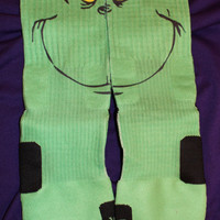 In time for the Holiday ~ Grinch Inspired Authentic Custom Nike Elite Socks