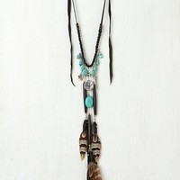 Free People Leather and Charm Collar
