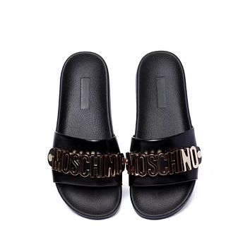 shosouvenir : MOSCHINO Casual Fashion Women Sandal Slipper Shoes