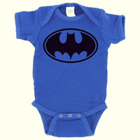 Batman  Royal Blue  Baby Onesuit  Baby Boy  by DearlyLovedBoutique
