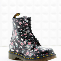 Dr. Martens 1460 8-Eyelet Floral Boots in Black - Urban Outfitters