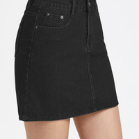A Line Chambray Skirt