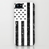 Reverse vintage USA flag iPhone iPhone & iPod Case by RexLambo