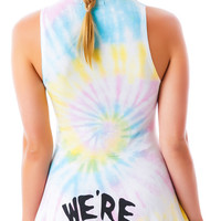 United Couture We're Fucked Sugar Doll Dress Tie Dye