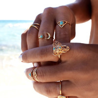 Elephant Stackable Gold Vermeil Ring